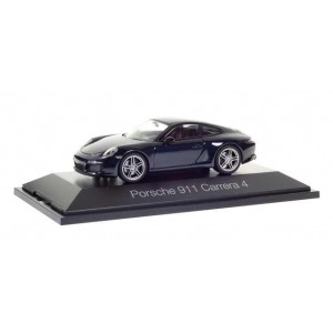 Macheta Auto Porsche 911 Carrera 4 Coupé, albastru inchis