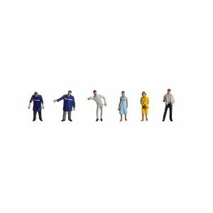 Set figurine HO Personal service auto