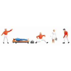 Set figurine HO Personal serviciul de urgenta