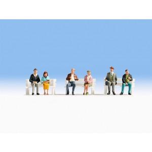Set figurine H0, oameni care stau jos