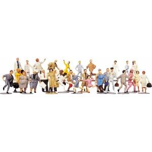 Set figurine HO Calatori