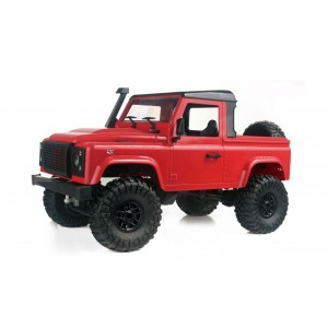 Kit de construit RC Jeep D90 rosu,4WD,1:16