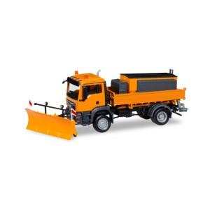 Macheta camion MAN TGS M Euro 6c 4x4 echipat cu plug de deszapezire