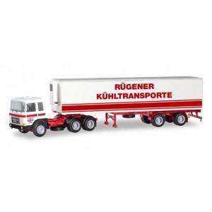 Macheta camion Roman Diesel 6×4 cu semiremorca frigorifica