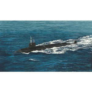 Kit de construit submarin SSN-21 USS Sea Wolf 1/700
