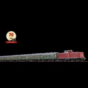 "Set aniversar 70 de ani BRAWA ""Schwäbische Waldbahn"", cu locomotiva diesel BR 212 si 3 vagoane de calatori, Epoca VI"