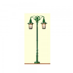 Lampa de parc dubla