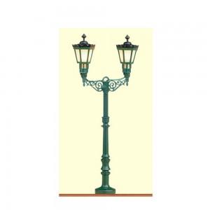 Lampa de parc cu 2 brate