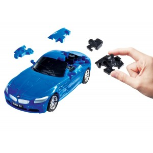 Kit de construit BMW Z4 albastru 1:32 Puzzle Fun 3D