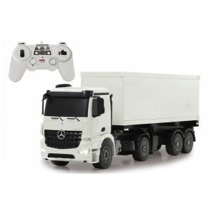 Camion RC cu telecomanda Mercedes-Benz Arocs cu semiremorca container 1:20 / 2,4 Ghz/ LED