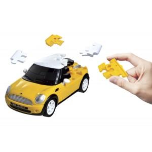 Puzzle Fun 3D Mini Cooper Galben