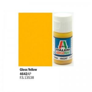 Vopsea acrilica pe baza de apa, Galben Lucios, 20 ml