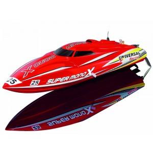 Barca RC cu telecomanda Super Mono X V2 Brushless V-Boot 45km/h, 420mm