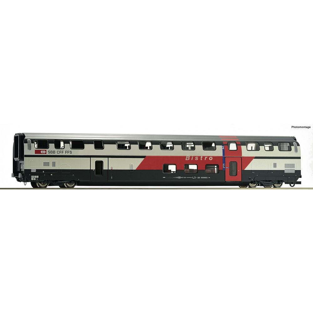Vagon de calatori cu etaj,bistro, SBB, Epoca VI 74504