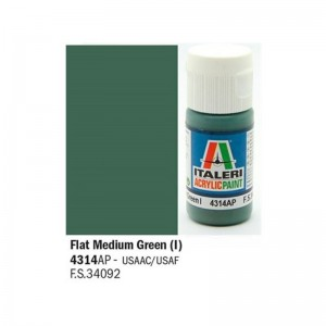 Vopsea acrilica pe baza de apa, Verde medium Mat, 20 ml