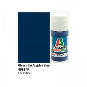 Vopsea acrilica pe baza de apa, Albastru Lucios, 20 ml