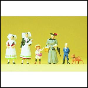 Set Figurine HO Familie 1900