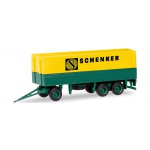 """MiniKit: remorca 3-axe cu prelata """"Schenker"""""""