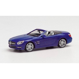 Macheta auto Mercedes Benz SL cabrio, albastru inchis