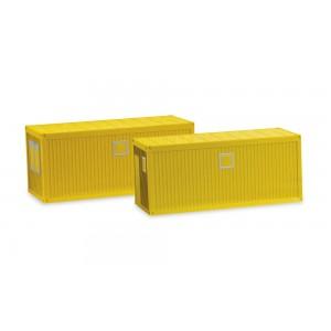 Set 2 containere santier 20 ft. pentru camioanele si remorcile Herpa