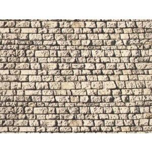 Perete foaie de carton imitatie piatra in relief