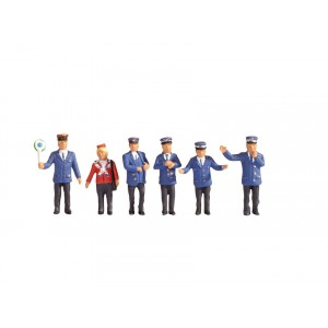 Set figurine H0 Personal feroviar, 6buc