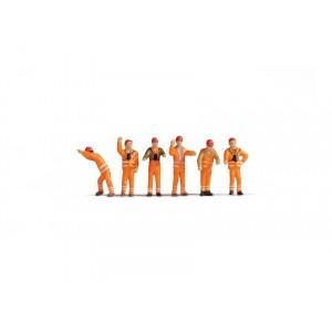 Set figurine H0 Personal feroviar (manevre feroviare), 6buc
