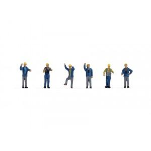 Set figurine H0 Personal feroviar (manevre feroviare) Ep III-IV, 6buc