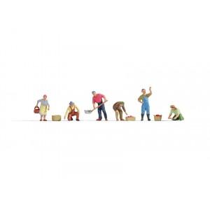Set figurine H0 Culegatori, 6buc