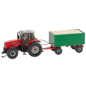 Macheta Tractor MF cu remorcă - Faller Car System (Wiking)