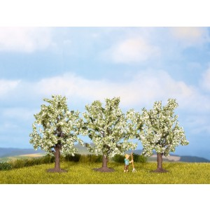 Set 3 pomi fructiferi infloriti, 8 cm