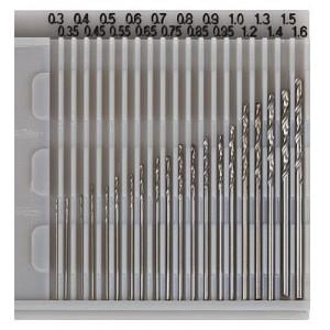 Set 20 burghie de dimensiuni mici 0,3 - 1,6 mm