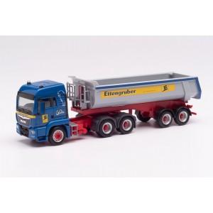 "Macheta camion MAN TGX LX cu semiremorca basculanta ""Ettengruber"""