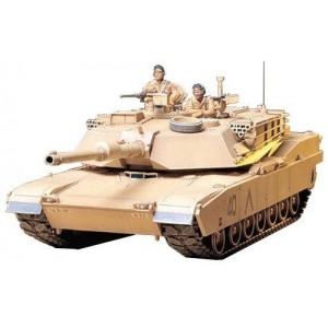 Kit de construit tanc US MBT M1A1 Abrams si 2 figurine 1:35