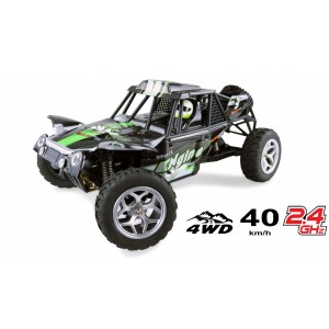 Masina cu telecomanda RC Sandstorm Sandbuggy, 40 Km/h,Tractiune 4X4, scara 1:18, L:280 mm, Control directie proportional,Verde