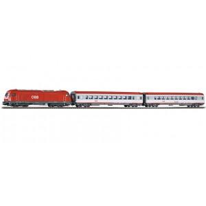 """Start set trenulet electric """"Tren de calatori"""",cu locomotivă electrica Rh 2016 si 2 vagoane calatori ,OBB, Epoca VI"""