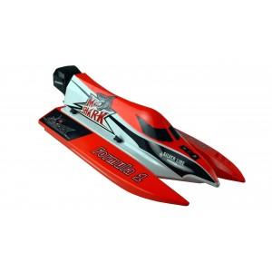 Barca RC cu telecomanda Mad Shark V2 2,4 GHz / 430mm / 60 km/h RTR