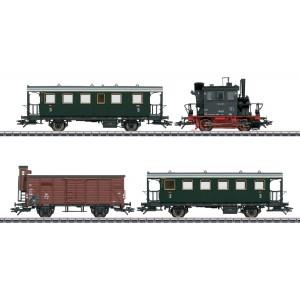 Garnitura tren de calatori cu vagon de marfa (PmG) fosta bavareză PtL 2/2,cu sunet, Epoca III