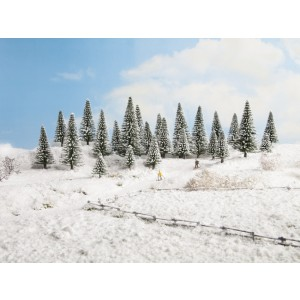 Set 25 brazi de iarna, 5-14 cm