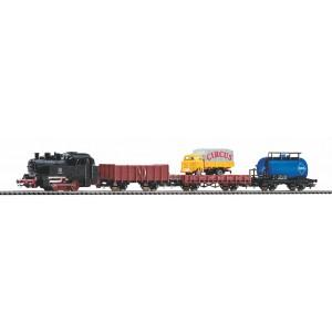 "Start set trenulet electric ""Tren de marfa"",cu locomotivă cu abur si 3 vagoane marfa ,DB, Epoca III"