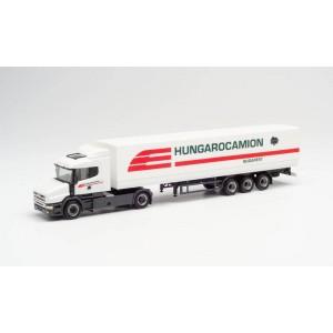 "Macheta camion Scania Hauber cu semiremorca ""Hungarocamion"""