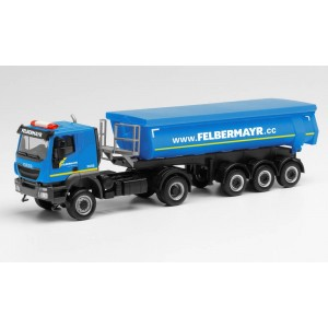"Macheta camion Iveco Tracker 4x4 cu semiremorca basculanta ""FELBERMAYR"""