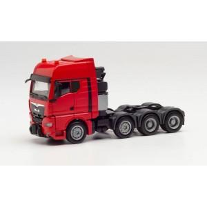Macheta camion MAN TGX GX 8x4 heavy-duty rosu