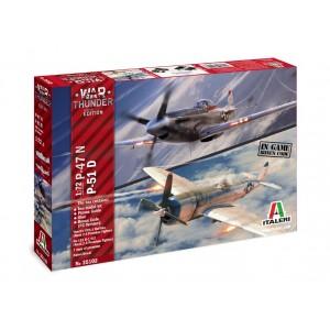 Kit de construit set 2 avioane P-47 N si P-51 D 1:72