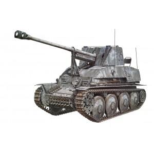 Kit de construit vehicul militar Ger. SdKfz.139 Marder III si 2 figurine 1:35