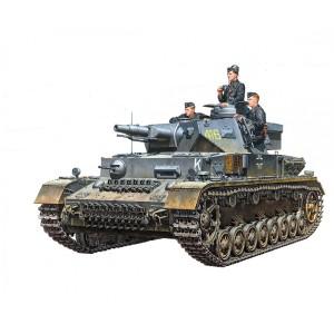 Kit de construit tanc Pz.Kpfw.IV F L24 / 75mm si 3 figurine 1:35