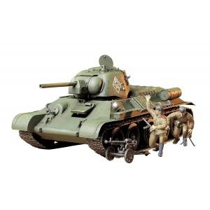 Kit de construit tanc T34 / 76 ChTZ V.43 si 2 figurine 1:35