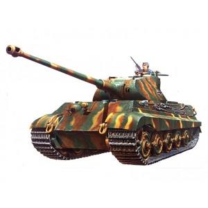 Kit de construit tanc King Tiger turela Porsche si 1 figurina 1:35