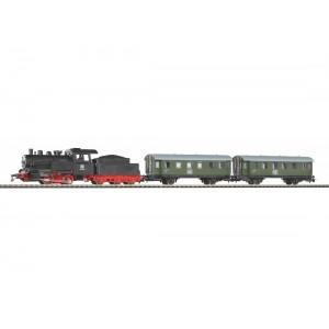 """Start set trenulet electric """"Tren de calatori"""",cu locomotivă cu abur si 2 vagoane ,DB, Epoca III"""