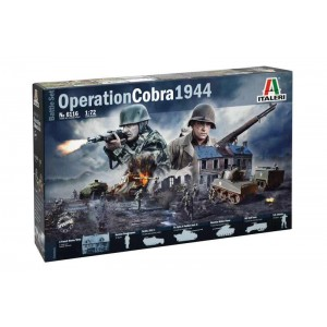 Kit de construit minidiorama OPERATIUNEA COBRA 1944 1:72